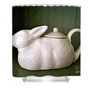 Bunny Teapot  Shower Curtain