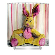Bunny With Pink Ears Shower Curtain