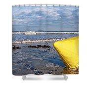 Buoy At Low Tide Shower Curtain
