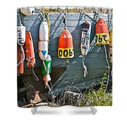 Buoy Hang Out Shower Curtain