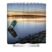 Buoy On The Bank Shower Curtain