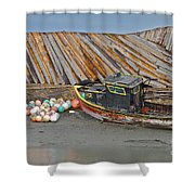 Buoy Spill Shower Curtain