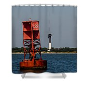 Buoy To Lighthouse Shower Curtain