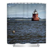 Buoy What A Lighthouse Shower Curtain