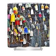 Buoys On Wall - Cape Neddick - Maine Shower Curtain