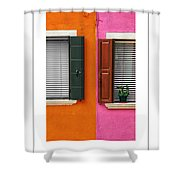 Burano 11 Poster Shower Curtain