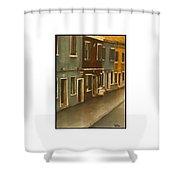 Burano Italy   No 18 Shower Curtain