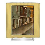 Burano Italy   No 20 Shower Curtain