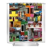 Burano Italy Poster Shower Curtain