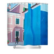 Burano Venice Street Scene Shower Curtain