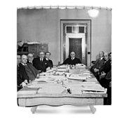 Bureau Of Navigation Meeting Shower Curtain
