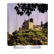 Burg Katze Castle On The Rhine Shower Curtain