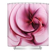 Burgandy Silk Shower Curtain