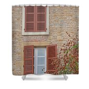 Rust Coloured Shutters Shower Curtain