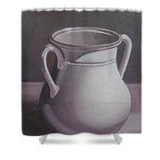 Burgundy Amphora Shower Curtain