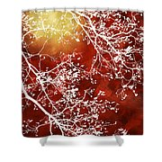 Burgundy Tree Abstract Shower Curtain
