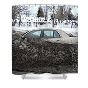 Burial Grounds Shower Curtain