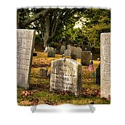 Burial Hill Cemetery-close Up Shower Curtain