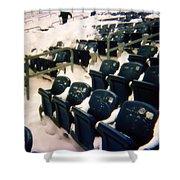Buried Gillette Stadium Seats Shower Curtain