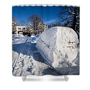 Buried In Snow Shower Curtain