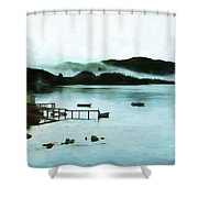 Burin Harbour Shower Curtain