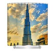 Burj Khalifa Shower Curtain by Syed Aqueel