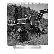 Burke Idaho Logging Truck 2 Shower Curtain