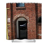 Burlington North Carolina - Brick Entrance Shower Curtain