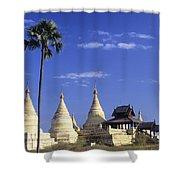 Burma Myanmar, White Minochanthar Shower Curtain