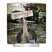 Burma Shave Sign Shower Curtain by RicardMN Photography