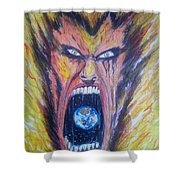 Burn Shower Curtain