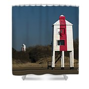 Burnham-on-sea Lighthouses Shower Curtain