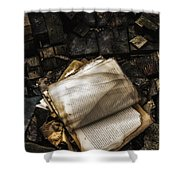 Burning Books Shower Curtain