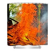 Burning Brush Shower Curtain
