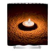 Burning Candle Shower Curtain