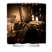Burning Candles Shower Curtain