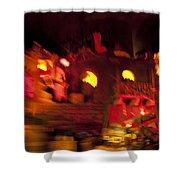 Burning City Shower Curtain