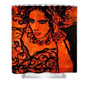 Burning Desire Shower Curtain