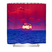 Burning Down The House Shower Curtain