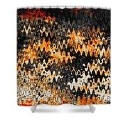 Burning Embers Shower Curtain