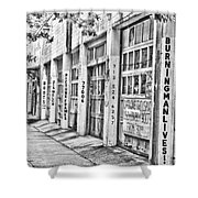 Burning Man Lives - Surreal Bw Shower Curtain