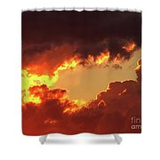 Burning Sky Shower Curtain