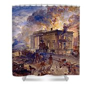 Burning Temple Of The Winds, 1856 Shower Curtain