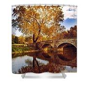 Burnside Bridge At Autumn Sunset Shower Curtain