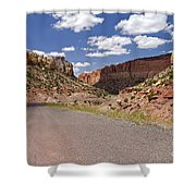 Burr Trail Road Through Long Canyon Shower Curtain