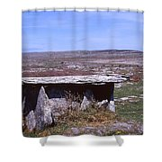 Burren Wedge Tomb Shower Curtain