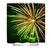 4th Of July Fireworks 6 Shower Curtain by Howard Tenke