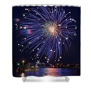 Burst Of Blue Shower Curtain by Bill Pevlor