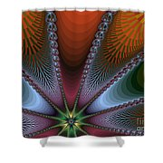 Bursting Star Nova Fractal Shower Curtain