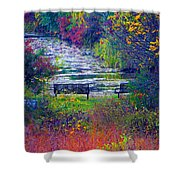 Bursting With Color 2 Shower Curtain